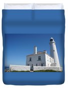 St. Mary's Island And The Lighthouse. Duvet Cover
