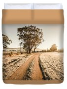 St Marys Winter Country Road Duvet Cover