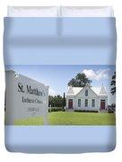 St. Matthews Lutheran Church Duvet Cover