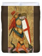 St Michael And The Dragon Duvet Cover
