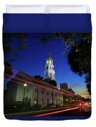 St. Michael's Episcopal Church In Charleston, South Carolina Duvet Cover