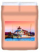 St. Michael's Lighthouse Duvet Cover