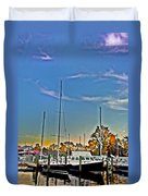 St. Michael's Marina On The Chesapeake Duvet Cover