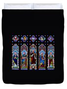 St. Michael's Parish Stained Glass Duvet Cover