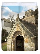 St Mylor And Bell Tower Duvet Cover