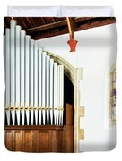 St Mylor Organ Pipes Duvet Cover