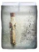 St Nicholas In The Snow Duvet Cover