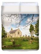 St Oswald's Church Graveyard Duvet Cover