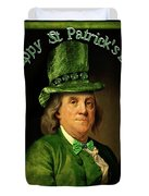 St Patrick's Day Ben Franklin Duvet Cover