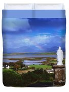 St Patricks Statue, Co Mayo, Ireland Duvet Cover