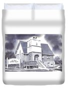 St Paul Lutheran With Ink Duvet Cover