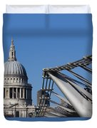 St Pauls Cathedral And The Millenium Bridge  Duvet Cover