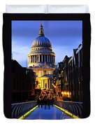 St. Paul's Cathedral From Millennium Bridge Duvet Cover