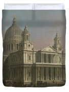 St. Paul's Cathedral Duvet Cover by Giovanni Antonio Canaletto