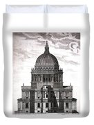 St. Pauls Drawn By Christopher Wren Duvet Cover