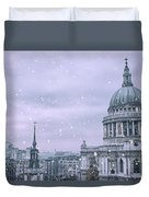 St Pauls Snow Duvet Cover
