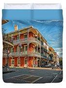 St Peter St New Orleans Duvet Cover