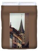 St. Peter Tower Zurich Switzerland Duvet Cover by Susanne Van Hulst