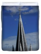 St. Peter's Roman Catholic Church's Steeple In Harpers Ferry Duvet Cover