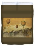 St Petersburg With Air Baloons Duvet Cover