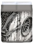 St. Saviour Church Window - Black And White Duvet Cover