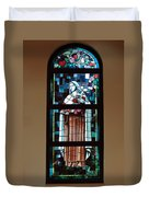 St. Theresa Stained Glass Window Duvet Cover