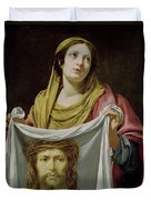 St. Veronica Holding The Holy Shroud Duvet Cover