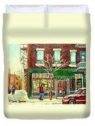 St Viateur Bagel Shop Montreal Duvet Cover