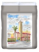 St. Victor's Catholic Church, West Hollywood, Ca Duvet Cover