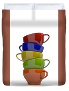 Stacked Cups Duvet Cover