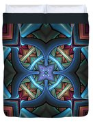 Stacked Kaleidoscope Duvet Cover