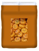 Stacked Mini Pumpkins Duvet Cover