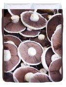 Stacked Mushrooms Duvet Cover