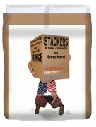 Stackers Poster Duvet Cover