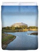 Stadium And Park Panorama Bleach Bypass Duvet Cover