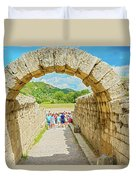 Stadium At Olympia, Greece  Duvet Cover