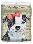 Staffordshire Terrier-jp3857 Duvet Cover