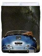 Star Gazing,1955 Porsche 356a 1600 Speedster, Under The Milky Way Duvet Cover