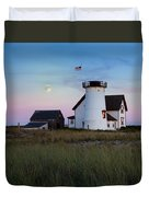 Stage Harbor Light Cape Cod Duvet Cover