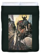 Stagecoach Robbers Duvet Cover