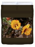 Staghorn Cactus Blossons Duvet Cover