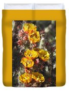 Staghorn Cholla Blossoms Duvet Cover