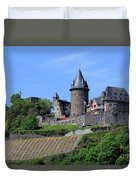 Stahleck Castle In The Rhine Gorge Germany Duvet Cover