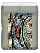 Stain Glass Set 3 - Bath House - Hot Springs, Ar Duvet Cover