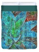Stained Glass Agave Two  Duvet Cover