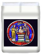Stained Glass - Baptism - Musee De Cluny Duvet Cover