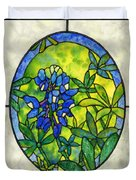 Stained Glass Bluebonnet Duvet Cover