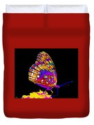 Stained Glass Butterfly Duvet Cover
