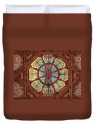 Stained Glass Ceiling Window Duvet Cover