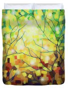 Stained Glass Forest Duvet Cover